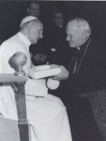 Paolo VI e Karol Wojtyla nel Concistoro del 26 giugno 1967